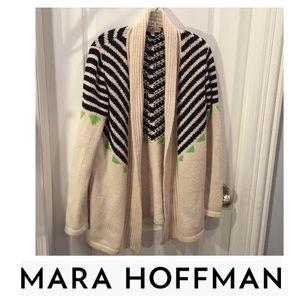 Mara Hoffman Alpaca Blend Open Cardigan Sweater